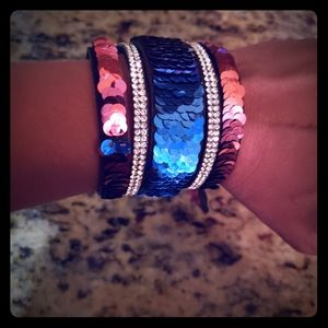 NWT Sequin snap bracelet 🧜♀️🧜♀️